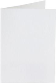 Papicolor dubbele kaart vierkant 13.2 cm hagelwit 200gr pak/6 st