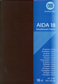 BORDUURSTOF AIDA 18 COUNT - BLACK - RTO