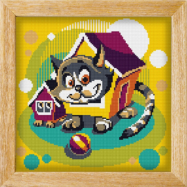 Diamond painting MANDALA FUNNY ANIMALS HOUSE CATS