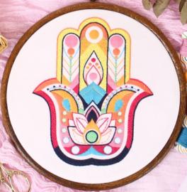 Mandala Hand - Embroidery (Hamsa Hand)