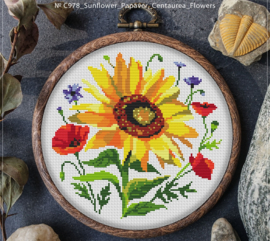 BORDUURPAKKET SUNFLOWER & PAPAVER FLOWERS - C978 VANAF 10,95
