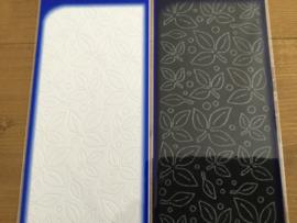 Velvet stickers leave wit/zwart