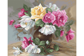 VASE WITH ROSES - LUCA-S