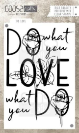 COOSA Crafts clearstamps A6 - DO WHAT YOU LOVE