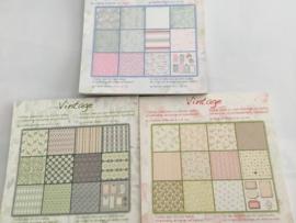 Vintage blok 36 bladen 15 x 15 cm