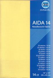 BORDUURSTOF AIDA 14 COUNT - YELLOW - RTO