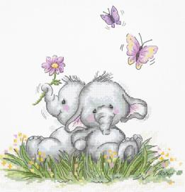 BORDUURPAKKET ELEPHANT COUPLE - LUCA-S  (B1184)