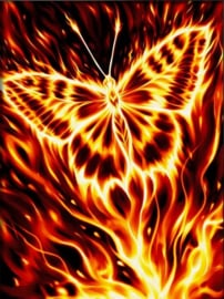 DIAMOND PAINTING FIRE BUTTERFLY - AZ-1854