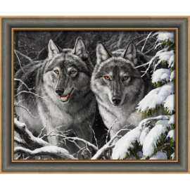 WOLVES (50 x 40 cm)