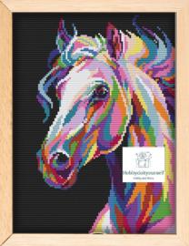 Borduurpakket Colourful HORSE