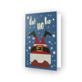 DIAMOND DOTZ GREETING CARD HO HO HO - NEEDLEART WORLD