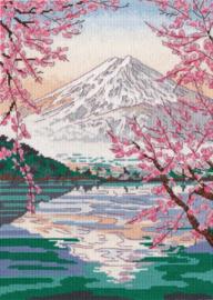 Borduurpakket OVEN - FUJIYAMA AND LAKE KAWAGUCHI S1311