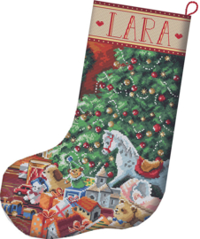 Borduurpakket LETI 8010 Cozy Christmas Stocking