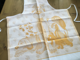 Keukenschort (kind) 100% katoen met opgestikte zak om te borduren.