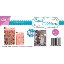 Joycrafts clear stamps voordeelset  kerstwensen met wishlist