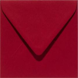 Papicolor Envelop vierkant 14cm kerstrood 105gr pak/6 st