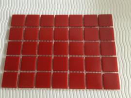 Mozaïeksteentjes 2 x 2cm (35 stuks) rood