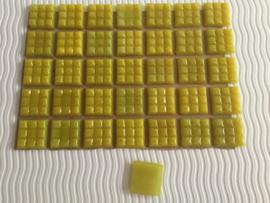 Mozaïeksteentjes 2 x 2cm (35 stuks) geel