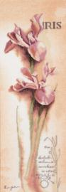 Home and Garden - Botanisch Iris (linnen)