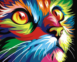 Wizardi Paint-By-Numbers - CAT (16.5 x 13 cm)