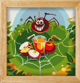 Diamond painting MANDALA FUNNY ANIMALS CAUGHT IN MY WEB