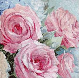 Borduurpakket LETI 928 Pale Pink Roses