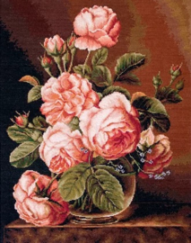 VASE OF ROSES (petit point)