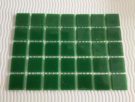 Mozaïeksteentjes 2 x 2cm (35 stuks) donkergroen