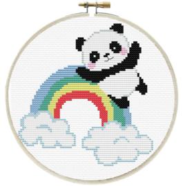 RAINBOW PANDA - LADYBIRD (inclusief houten borduurring)