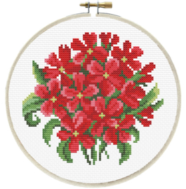 RED BOUQUET - LADYBIRD (inclusief houten borduurring)