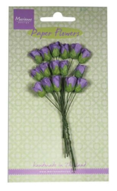 Marianne D Decoration Roses bud - dark lavender RB2243