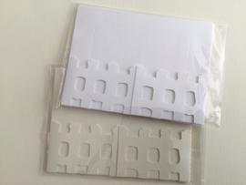 Kaarten met hek (set van 3) wit of ecru