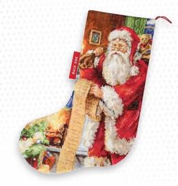 CHRISTMAS STOCKING SANTA (aida)