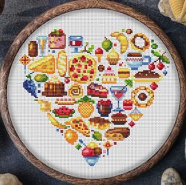 BORDUURPAKKET MANDALA TASTY FOOD HEART - C835 VANAF 10,95