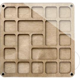 KRALENDOOSJE VIERKANT (21 vakjes) - ORGANIZER voor kralen en handwerkmaterialen