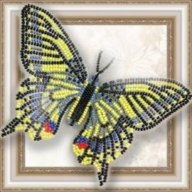 Kralen borduurpakket VLINDER - SWALLOWTAIL - HOBBY ART