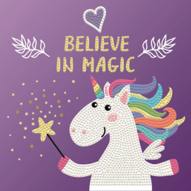 DIAMOND DOTZ BELIEVE IN MAGIC  - OP CANVAS