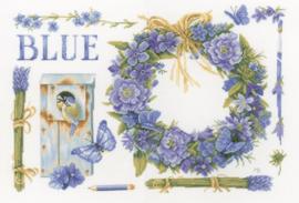 Marjolein Bastin - Lavendelkrans met Pimpelmees