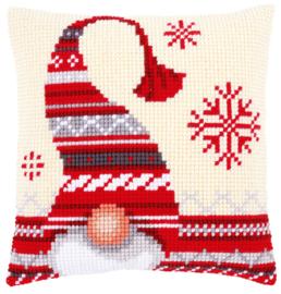 Kruissteek kussen Xmas Elf 40 x 40 cm (voorbedrukt)