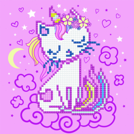 DIAMOND ART RAINBOW-OMBRE UNICORN - LEISURE ARTS
