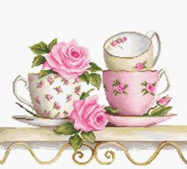 BORDUURPAKKET STACKED TEA CUPS - LUCA-S 27 x 20 cm