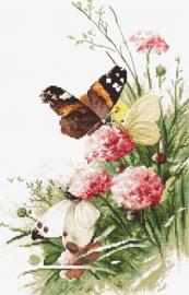 Borduurpakket LETI 938 Butterflies in the Field