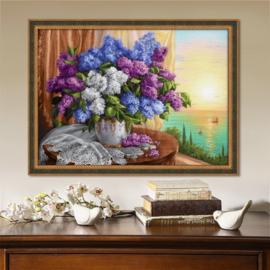 LILAC BY THE WINDOW (50 x 70 cm)