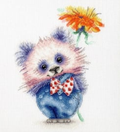 PANDA WITH FLOWER S/VK063