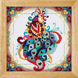 Diamond painting MANDALA Vogels PAUW (Rood)