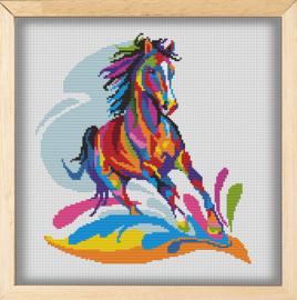 BORDUURPAKKET WATERCOLOR HORSE - C498 VANAF 10,95