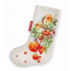 CHRISTMAS STOCKING ROBIN (aida)