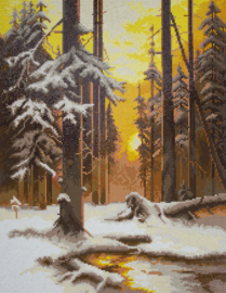DIAMOND PAINTING FOREST AT SUNSET - FREYJA CRYSTAL