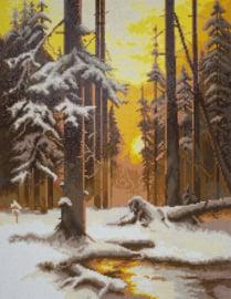 DIAMOND PAINTING FOREST AT SUNSET - FREYJA CRYSTAL