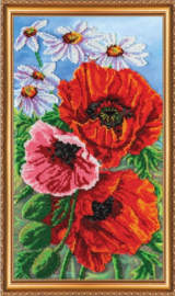 KRALEN BORDUURPAKKET POPPIES - ABRIS ART